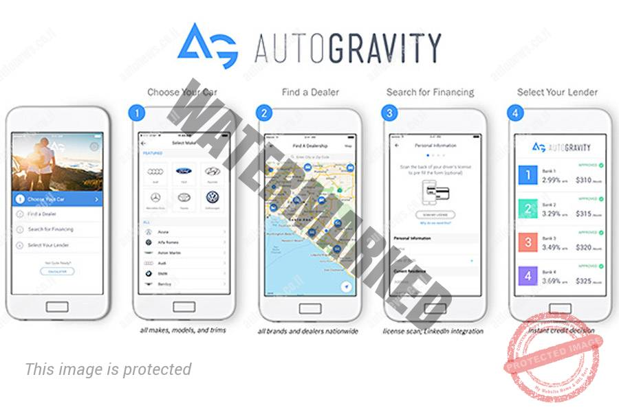 ארבעה שלבים ברכישת מכונית באמצעות אפליקציית AutoGravity (דיימלר)