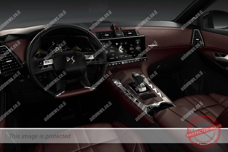 DS 7 Crossback, עיצוב תא נוסעים אלגנטי (DS)