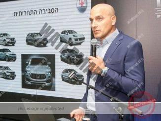 """דני איטליאנו, מנכ""""ל אוטו איטליה במצגת על השקת הלבנטה, ה-SUV הראשון של מזראטי (רונן טופלברג)"""