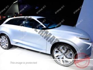 דגם קונספט יונדאי FE Fuel Cell שהוצג בתערוכת ג'נבה ומתוכנן להשקה בשנה הבאה (ניוזפרס)