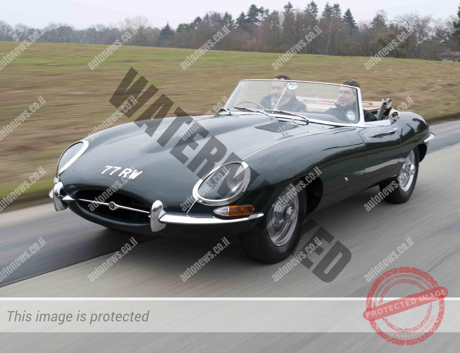 יגואר E-Type משנת 1961. הדגם שיושק השבוע הוא מסדרה 2 1970 (יגואר)