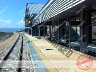 """רציף אחד, מסילה אחת בתחנת כפר ברוך (יח""""צ)"""