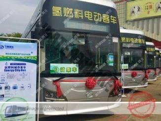 צי אוטובוסים תאי דלק חשמליים מוכן לצאת לשרות (באלארד)