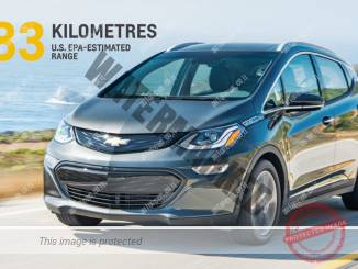 שברולט חוגגת את הטווח הארוך, לפחות זמנית, מזה של כל מכונית חשמלית אחרת (ג'י.אמ)
