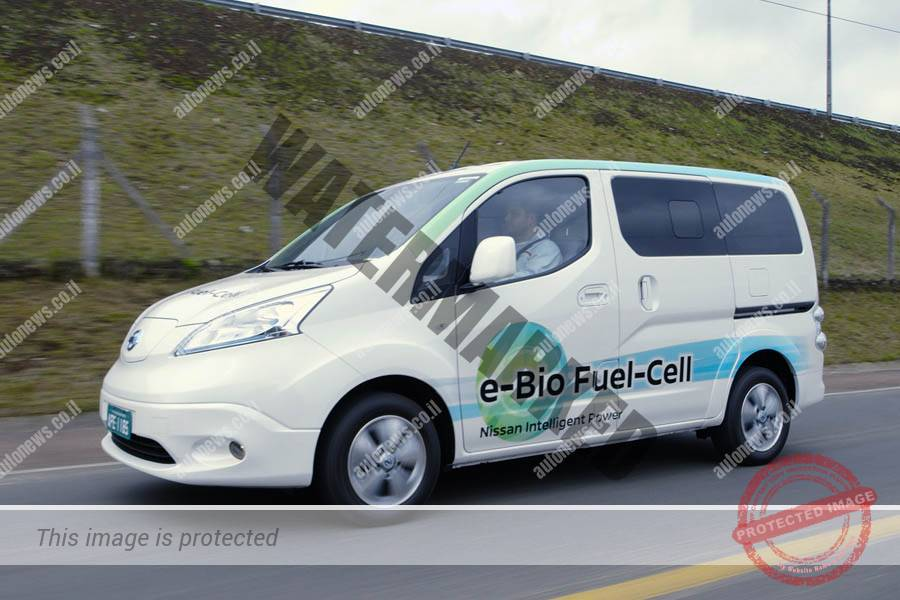 ניסאן e-NV200 המבוססת על תאי דלק חשמליים מוזנים באתנול (ניסאן)