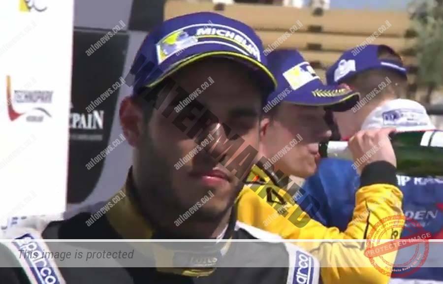 רוי ניסני בסיום המרוץ (צילום מסך)