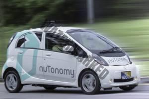 מיצובישי חשמלית וקטנה בנסיעת מבחן (nuTonomy)