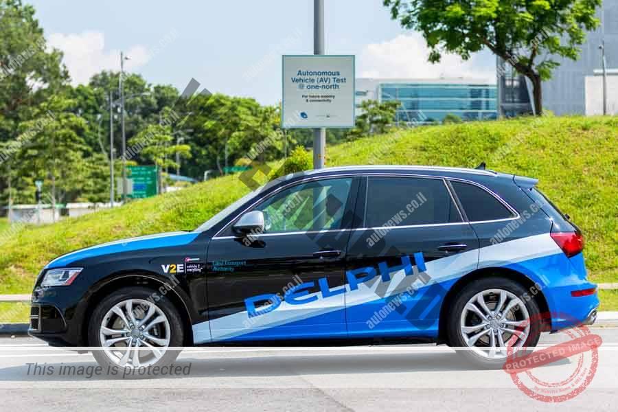 מכונית עם מערכת נהיגה אוטונומית (דלפי)