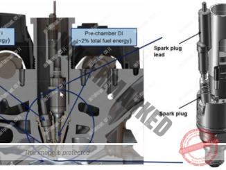 תרשים מערכת JTI למכוניות סדרתיות. המחקר והפיתוח נעשים על מנועי פורמולה 1 (Mahle)
