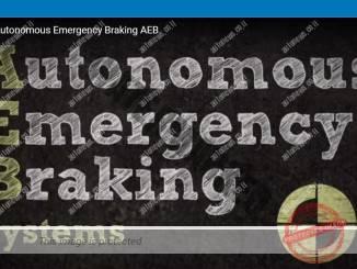 """מערכת בלימת חירום אוטומטית חובה מ-2022 בארה""""ב (צילום מסך, מובילאיי)"""