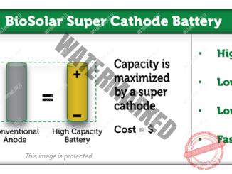 מצבר ליתיום יון עם סופר קתודה יהיה מסוגל לאגור כמות כפולה של חשמל (ביוסולאר)