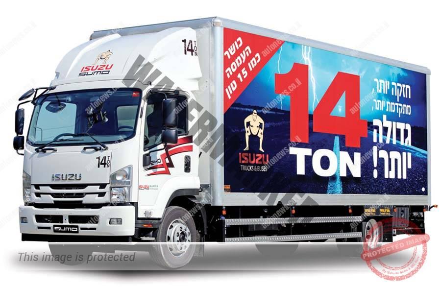 ברצינות UTI משיקה גרסאות משודרגות למשאיות איסוזו במשקלים 12 ו-14 טון PR-12