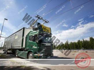 משאית של סקניה במבחן על נתיב מחושמל (סקניה)