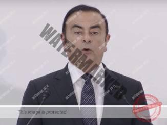 קרלוס גוהן במסיבת העיתונאים אתמול בטוקיו (צילום מסך, ניסאן)
