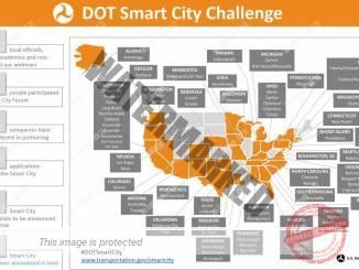 מפה וסטטיסטיקה של המשתתפות בתחרות העיר החכמה (DOT)