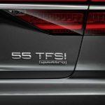 אודי A8 55 TFSI. נפח המנוע אינו מוזכר