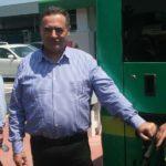 השר כץ מתדלק אוטובוס חשמלי