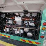 מבט על החלק האחורי של אוטובוס BYD