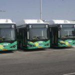 אוטובוסים של BYD. חלק מחבילות מצברי הליתיום-יון מותקנות על הגג