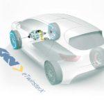 מערכת הנעה eTwinsterX במכונית חשמלית (BEV) עם הנעה קדמית