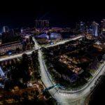 מסלול הגרנד פרי של סינגפור ממעוף ציפור לילה