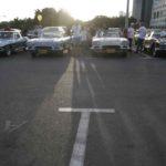 ארבע המכוניות החשובות באירוע: שלוש C1 ומשמאל C2 קורבט קופה String Ray עם חלון אחורי מפוצל
