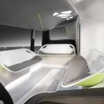 עיצוב פנים אוטובוס העתיד של מרצדס בנץ עם מערכת CityPilot (דיימלר)