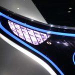 מרצדס Generation EQ מוצגת בתערוכת פאריס. תאורת LED קדמית