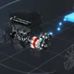 ניסאן רוג' הייבריד. מנוע, מערכת המצמד הכפול האינטליגנטית ומאחור מצבר הליתיום יון