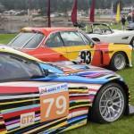 תצוגה של מכוניות האומנות של ב.מ.וו