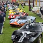 תצוגת מכוניות המרוץ פורד GT40 לרגל שנת ה-50 לניצחון הראשון ב-24 השעות של לה מאן