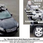 ציוד המדידה על גגה של מכונית סורקת (Mitsubishi Electric)