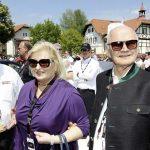 פייך (מימין) עם אשתו אורסולה באירוע שנתי למכוניות פולקסווגן בוורתר סה